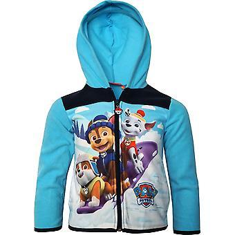 Boys HQ1172 Paw Patrol Fleece Full Zip Hooded Sweatshirt Size: 3-6 Years