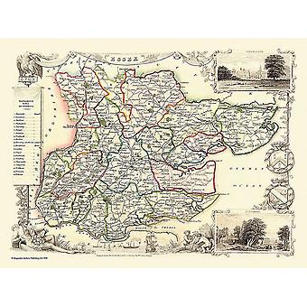 Old Map of Essex 1836 by Thomas Moule 1000 Piece Jigsaw Puzzle (jhg)