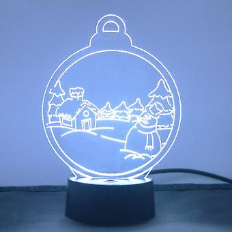 Christmas Village Snow Scene Colour Changing LED Acrylic Light