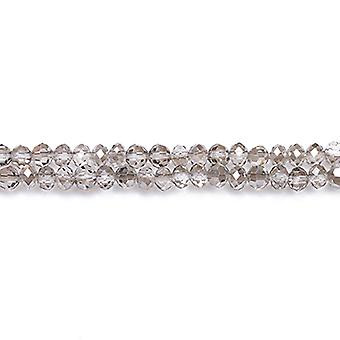 Strand 90+  Grey Czech Crystal Glass 3 x 4mm Faceted Rondelle Beads GC3525-1