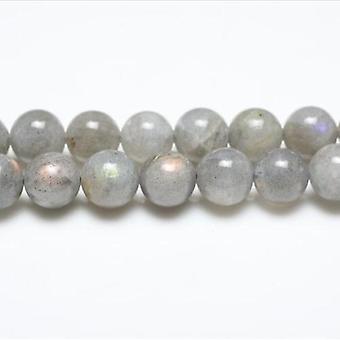 Paquet de 5 x Labradorite grise 8mm plaine ronde perles VP1025
