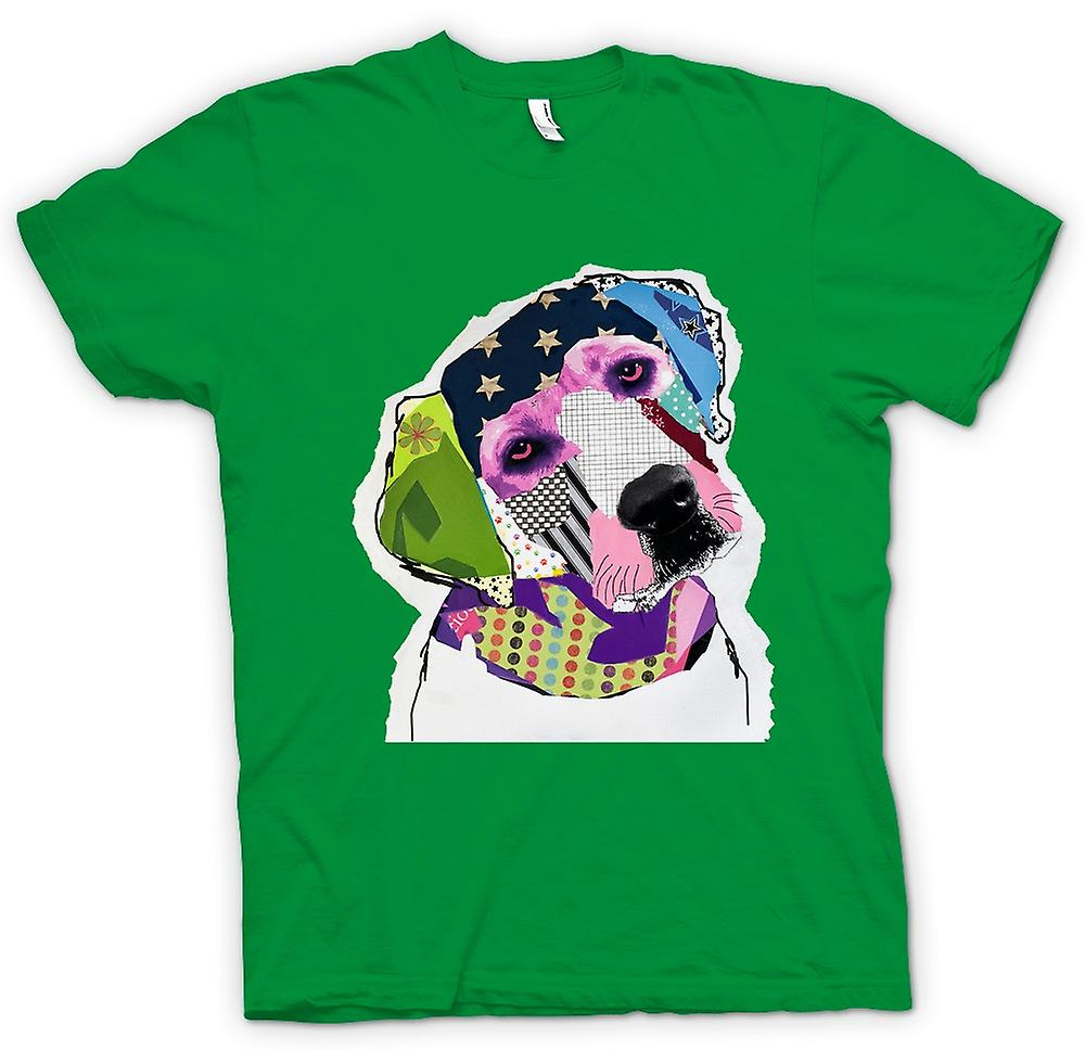 Mens T-shirt - Labrador - Cool - Pop Art - Freisteller