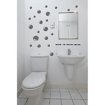 Set of 42 Bubbles Bathroom Tile Wall Stickers