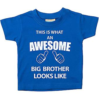 Dette er hva en Awesome storebror ser ut som blå t-skjorte