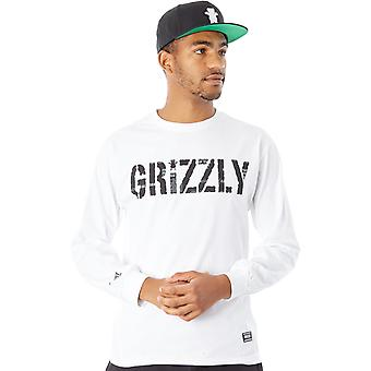 Grizzly White Headlines Long Sleeved T-Shirt