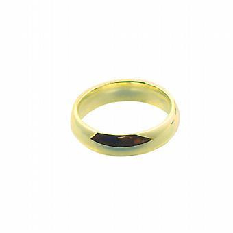 9ct Gold 6mm einfache Gericht Wedding Ring Größe Q