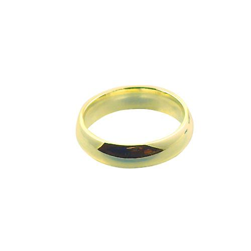 9ct Gold 6mm plain Court Wedding Ring Size X