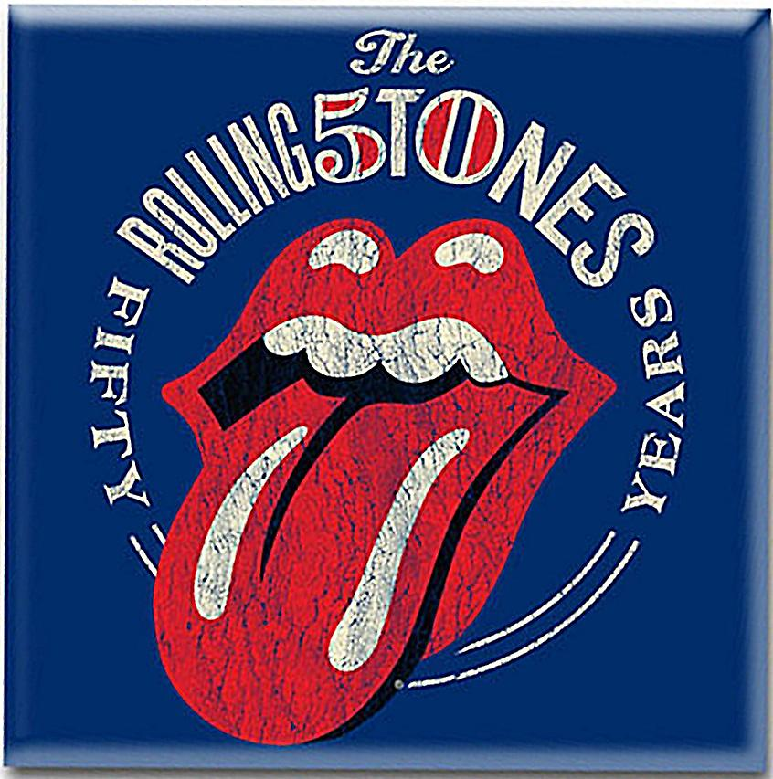 Rolling Stones 50th Anniversary steel fridge magnet     (ro)