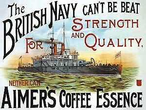 Aimers Coffee Essence (British Navy) large steel wall sign    (og 4030)