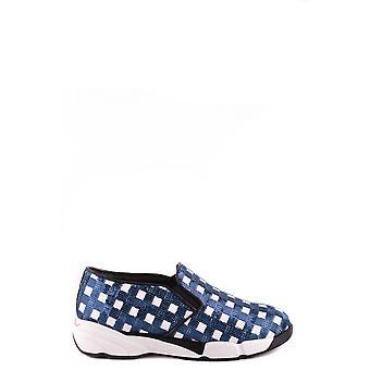Pinko Blue Fabric Slip On Sneakers