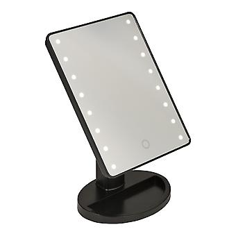 Touch LED Illuminated Cosmetic Make Up Mirror Magnified For Vanity Table 16 LEDs