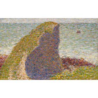 Study for Le Bec du Hoc,Grandcampe,Georges Seurat,60x38cm