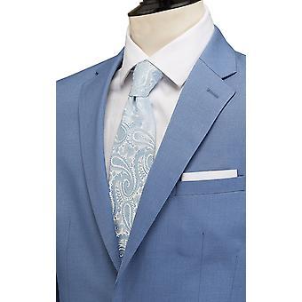 Dobell Mens lys blå dressjakke Slim Fit