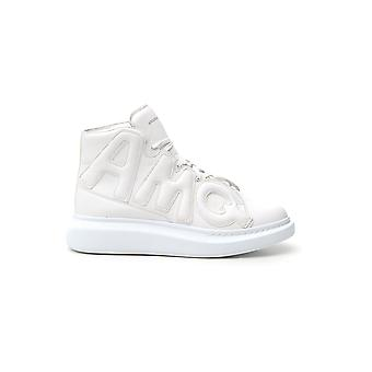 Alexander Mcqueen White Leather Hi Top Sneakers