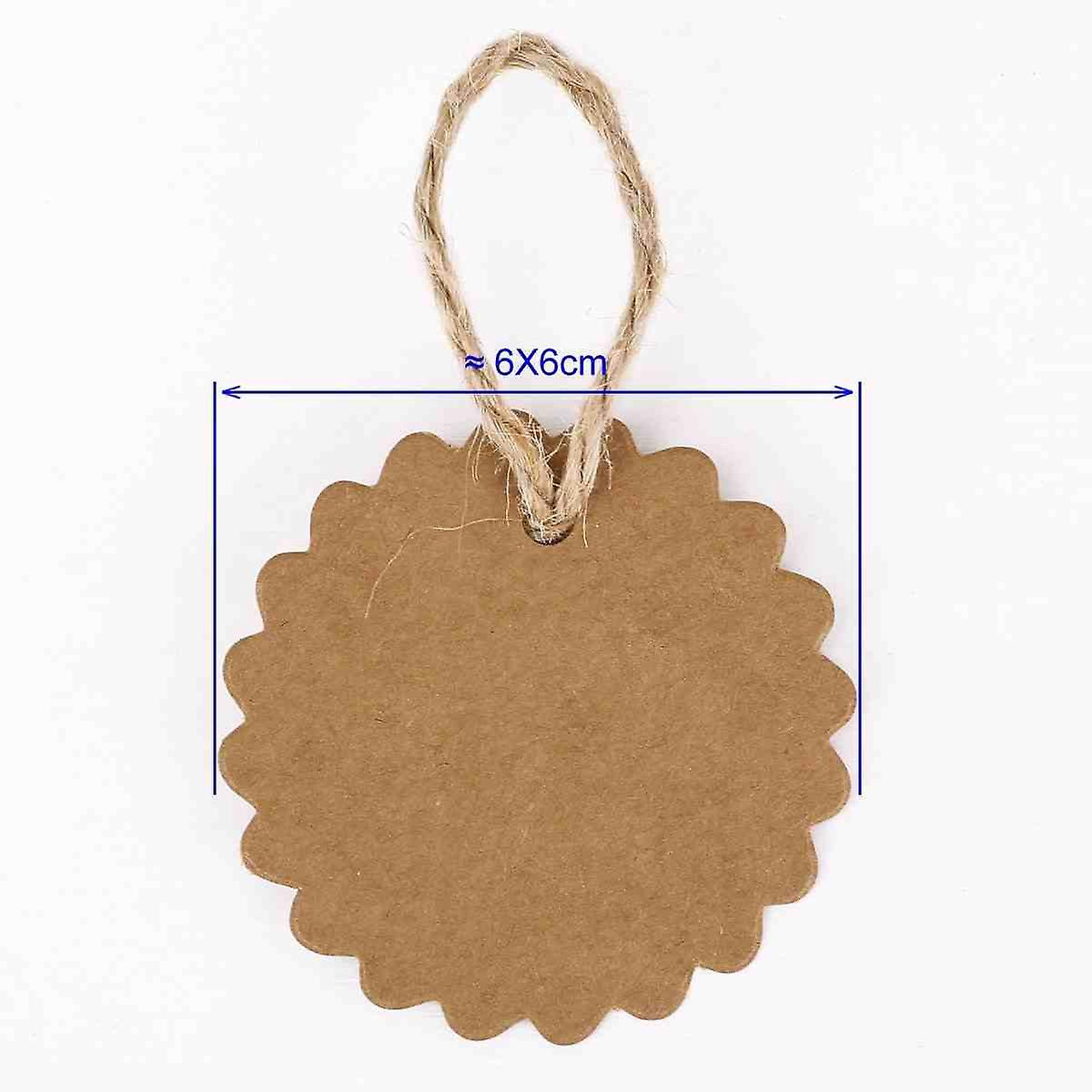 100x Paper Pendants Tags Labels Personalised Tags Party Decoration DIY Tidy Storage + 20m String