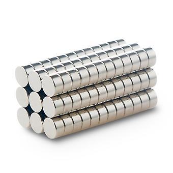 Neodymium magneet 8 x 4 mm schijf N35 - 100 stuks