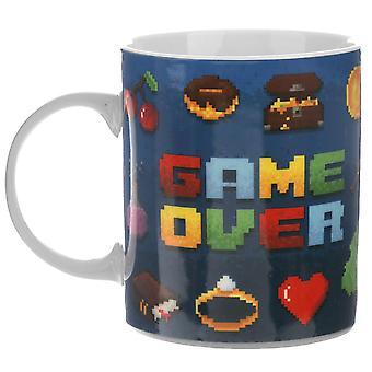 Game Over Tasse  weiß, bedruckt, 100% Porzellan , in Geschenkverpackung.