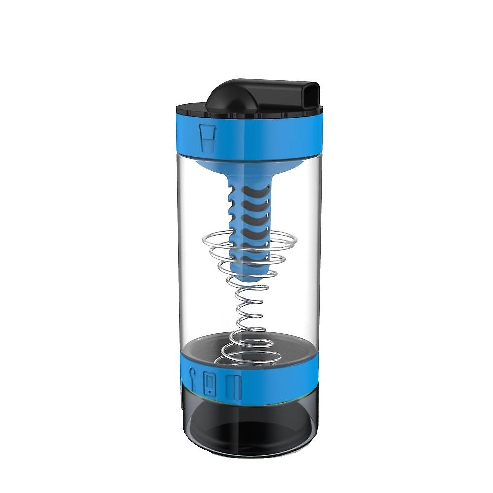 Intelishake H20 INFUSE - Cyclone Blue - Multi-Compartment 550ml Water Protein Shaker Fruit Infusion and Juice Bottle with Carbon Filter BPA Free for Outdoor Sports Gym Exercise