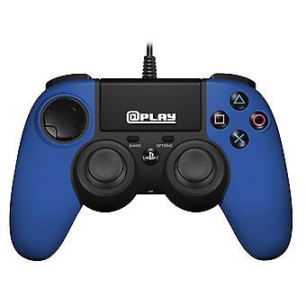 Contrôleur filaire PS4 sous licence officielle-bleu