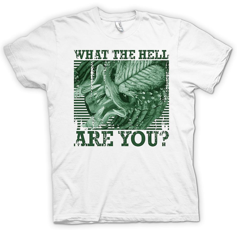 Mens T-shirt - What The Hell Are You - Predator