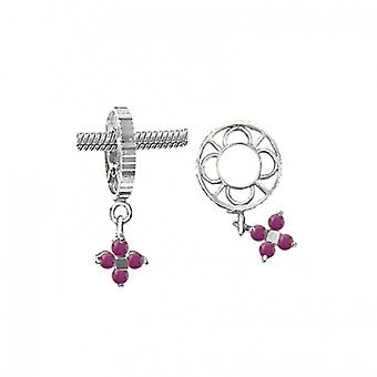 Storywheels Silver With Ruby Dangle CharmS010R