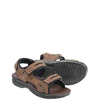 Mens Brown Touch Fasten Sandal
