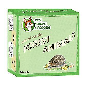 Smarten bos dieren-set van kaarten
