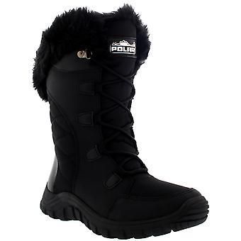 المرأة مبطن الرباط حتى الأسود اصطف الفراء في الهواء الطلق الكفة الثلج المطر بطة التمهيد المملكة المتحدة 3-10