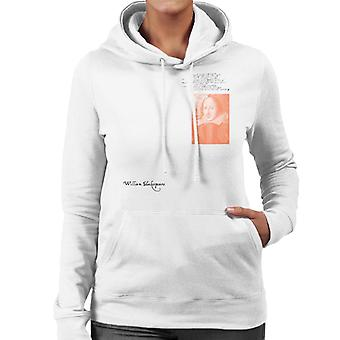 A.P.O.H William Shakespeare Writing Portrait Women's Hooded Sweatshirt