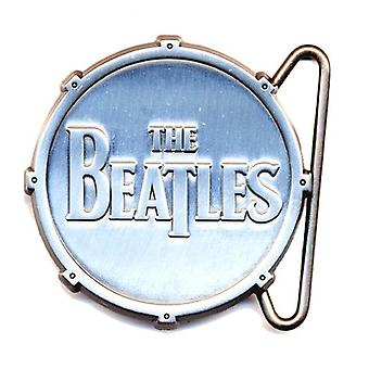 The Beatles Belt Buckle Classic Drop T Drum Logo nuevo Metal Oficial