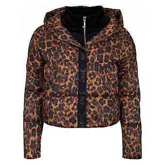 Juicy Couture Volumised Leopard Print Puffa Jacket
