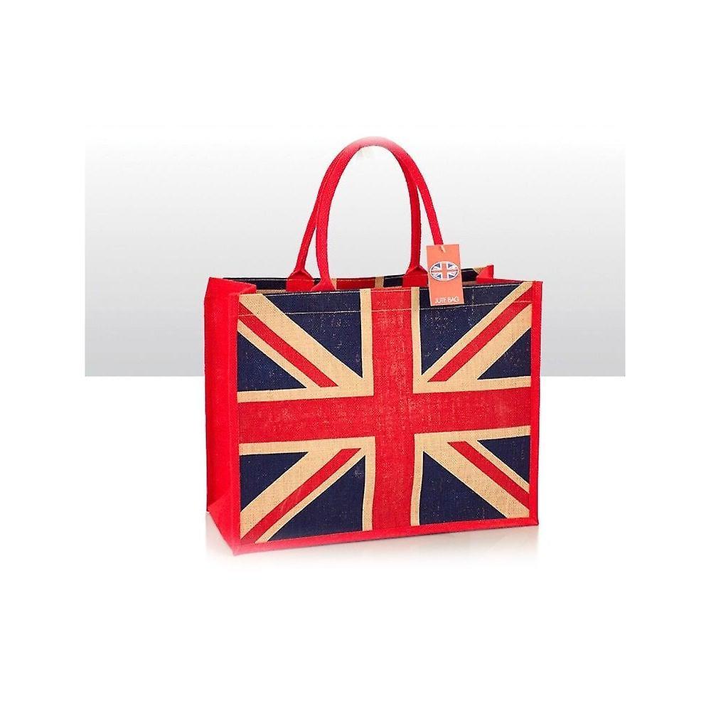 Union Jack Wear Union Jack Jute Shopping Bag