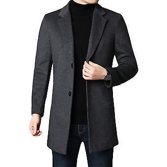 Allthemen Men's Solido Spesso Spesso Caldo Autunno & Cappotto di lana Invernale
