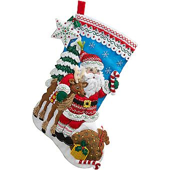 Nordische Santa Stocking Felt Applique Kit-18