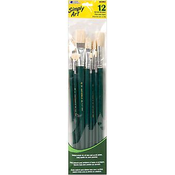 Simply Art Bristle Brush Set 12 Pkg S1021082