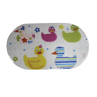 Cute Ducks Quackers PVC Bath Mat 69cm x 38cm