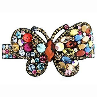 Butler & Wilson Multi Jewelled Butterfly Hair Clip Barrette