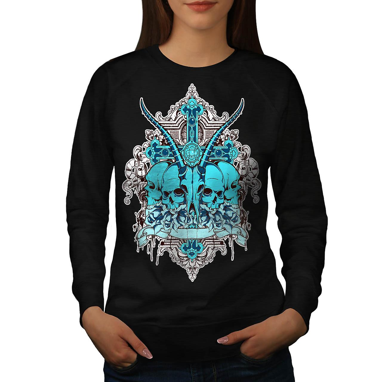 Dead Sacrifice Goat Animal Death Women Black Sweatshirt | Wellcoda