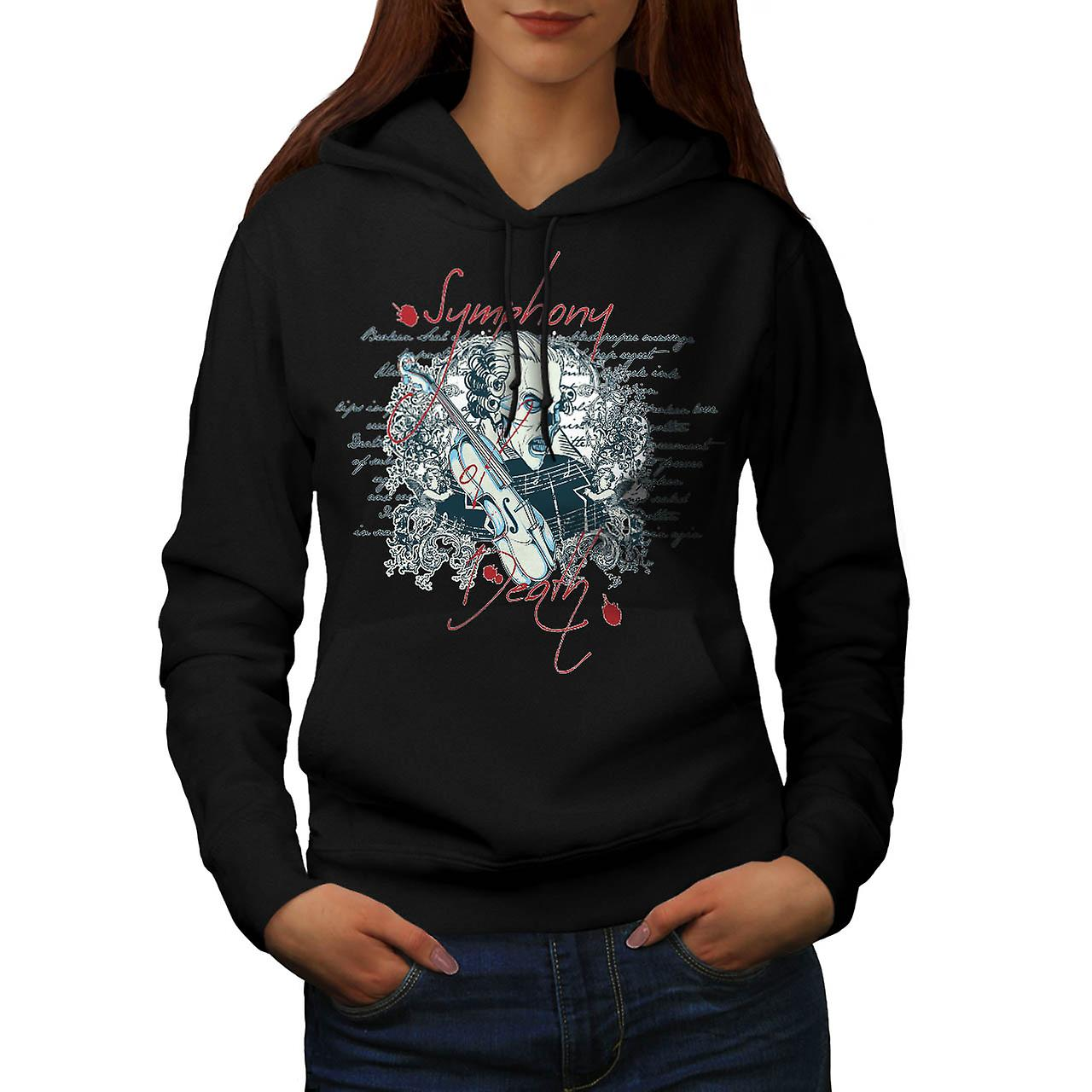 Symphony Death Music Evil Beats Women Black Hoodie | Wellcoda