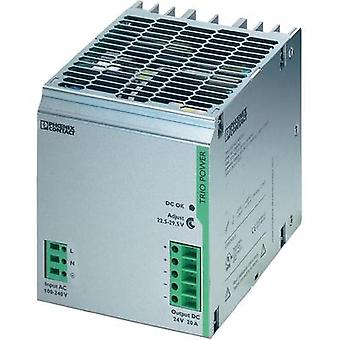Rail mounted PSU (DIN) Phoenix Contact TRIO-PS/1AC/24DC/20 24 Vdc 20 A 480 W 1 x