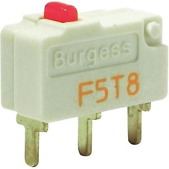 Microswitch 250 Vac 5 A 1 x On/(On) Burgess F5T8UL IP40 momentary 1 pc(s)