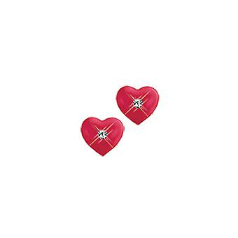 Scout children earrings silver heart red girl 262145100