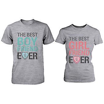 Miglior fidanzato fidanzata mai corrispondenza coppia camicie – t-shirt in cotone grigio
