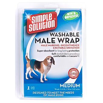 Simpel opklaring hund mandlige vaskbar Wrap Medium
