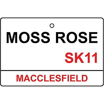 Macclesfield / Moss Rose Street Sign Car Air Freshener