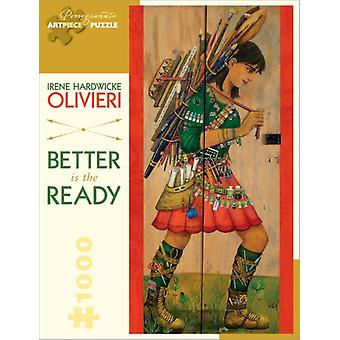 Irene Hardwicke Olivieri: Better Is the Ready 1000-piece Jigsaw Puzzle