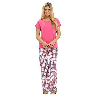 Señoras de largo pijama conjunto dormir & Tom Franks Jersey impresión Floral T camiseta Top