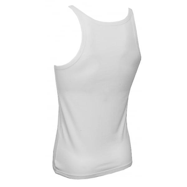 Emporio Armani 2-Pack Pure Cotton Tank Top Vests, White