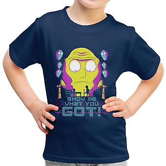 Show Me What You Got Get Schwifty Rick And Morty Kid's T-Shirt