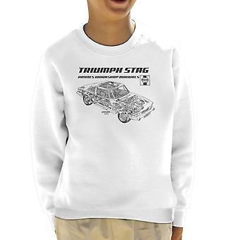 Haynes Workshop handmatige 0441 Triumph Stag zwarte Kid's Sweatshirt